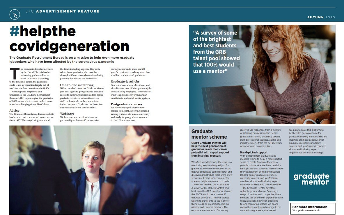 Press Coverage with DiversityQ and Jobs and Careers Magazine Graduate Mentor 15